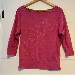 Nike   Pink Vintage 3/4 Sleeve Sweatshirt